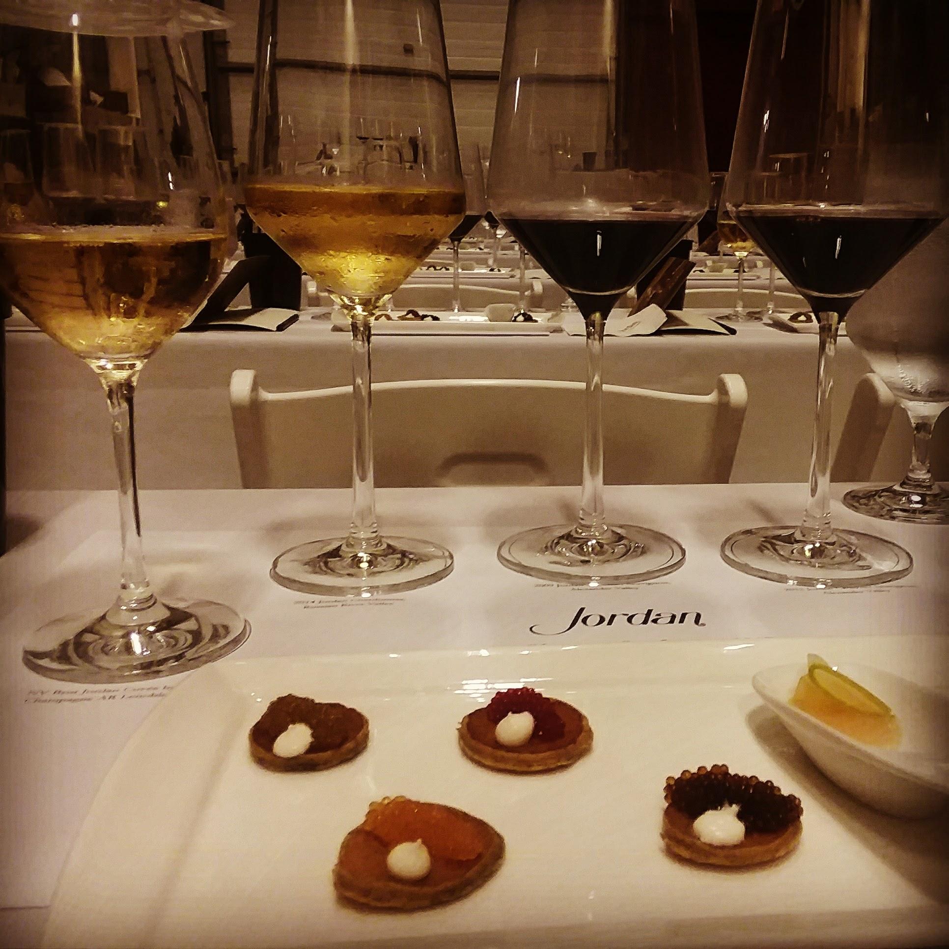 Successful test run for Jordan Winery's new caviar & wine