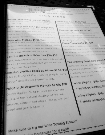 Luisa's Cellar Red Wine List Nov. 2018