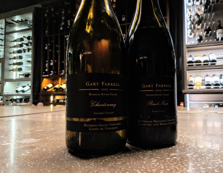 Gary Farrell 2015 Concrete Chardonnay & McDonald Mtn Pinot