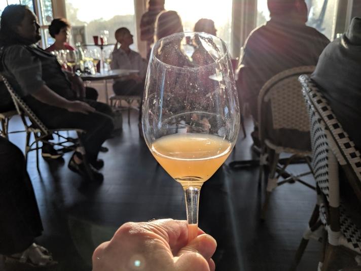 Skin Fermented Chardonnay w Audience